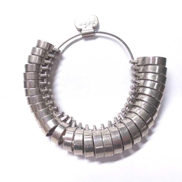 幅広リング用のサイズゲージ(指輪サイズ計測用)