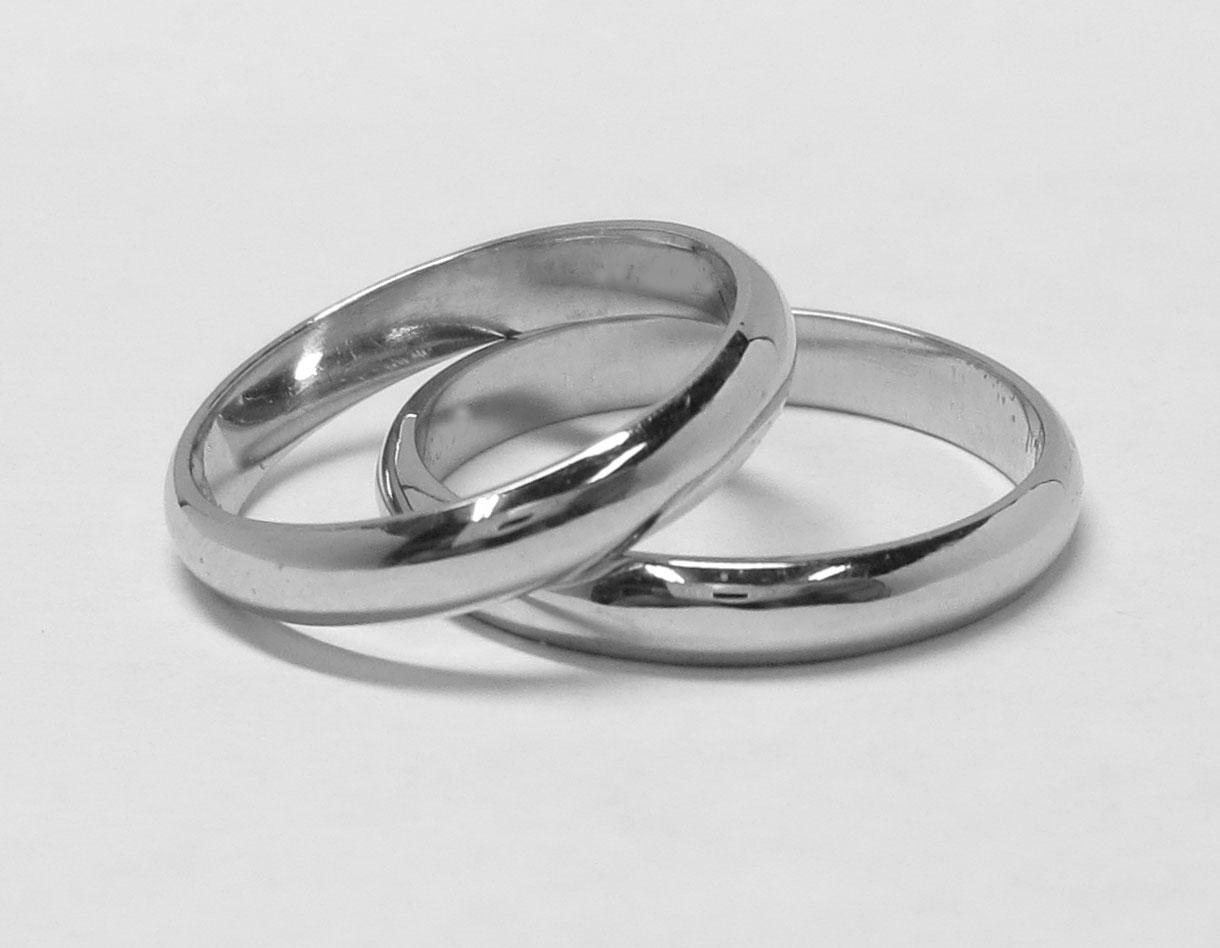 プラチナ製結婚指輪(マリッジリング)のいにしえの画像