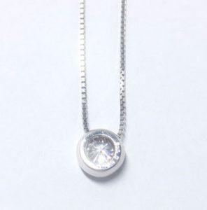 ダイヤペンダント・覆輪留めプラチナ900トップ 5