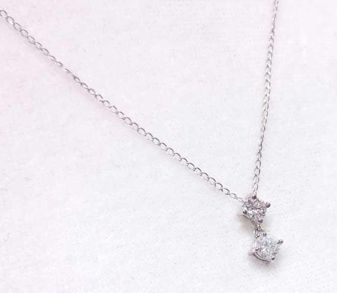 祖母と母のダイヤを合わせて完成した、プラチナダイヤペンダント完成品画像1