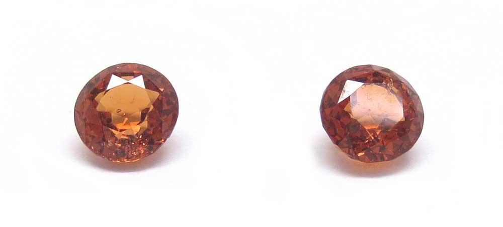 ガーネット(オレンジ)のルース画像・正面