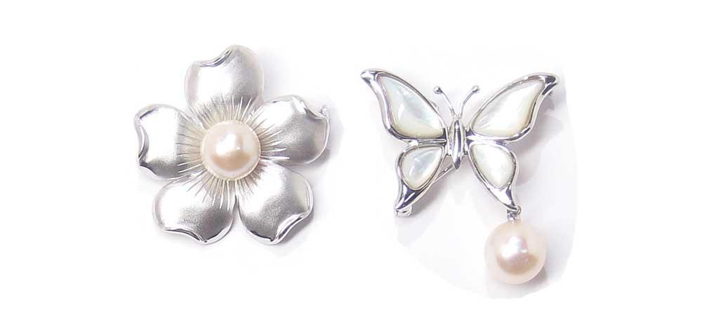 リフォーム後・シルバー製・真珠ブローチ